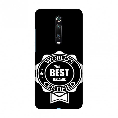 Father's Day - Certified Best Dad Slim Hard Shell Case For Redmi K20/K20 Pro