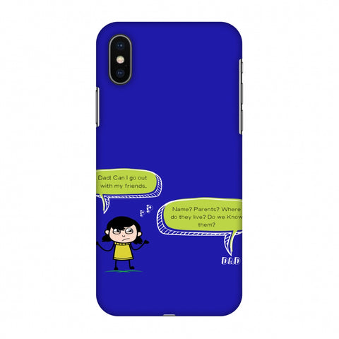 Father's Day - Desi Dad Quotes Slim Hard Shell Case For Apple iPhone X