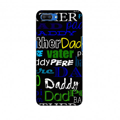 Father's Day - Papa Father Pop Slim Hard Shell Case For Oppo Realme C1