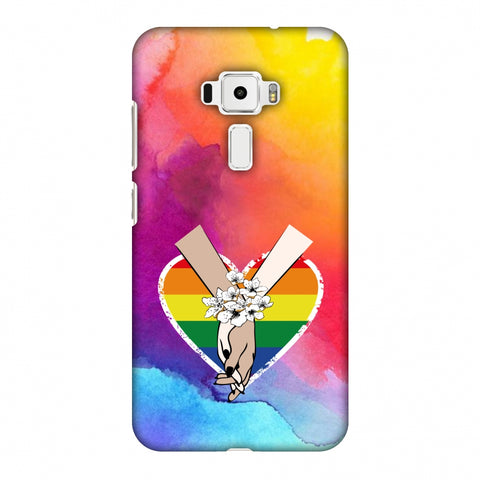 Not Afraid To Love- Watercolour Effect Slim Hard Shell Case For Asus Zenfone 3 ZE520KL