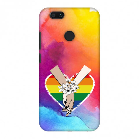 Not Afraid To Love- Watercolour Effect Slim Hard Shell Case For Xiaomi MI A1-5X