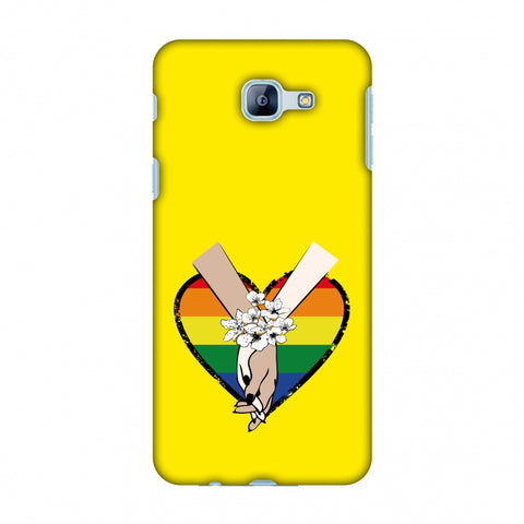 Not Afraid To Love- Yellow Slim Hard Shell Case For Samsung Galaxy A8 2016