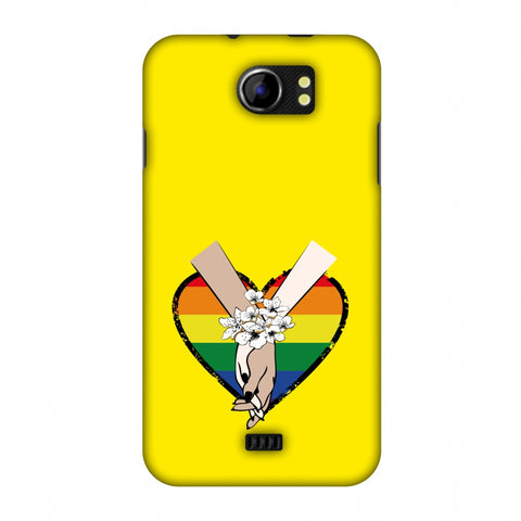 Not Afraid To Love- Yellow Slim Hard Shell Case For Micromax Canvas 2 A110