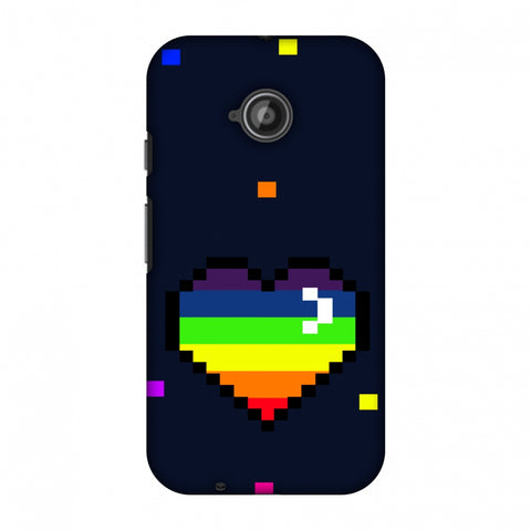 Pixelated Heart Slim Hard Shell Case For Motorola Moto E 2nd Gen