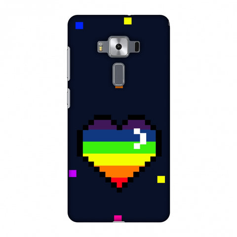 Pixelated Heart Slim Hard Shell Case For Asus Zenfone 3 Deluxe ZS570KL