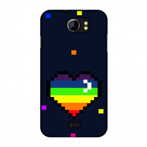 Pixelated Heart Slim Hard Shell Case For Micromax Canvas 2 A110