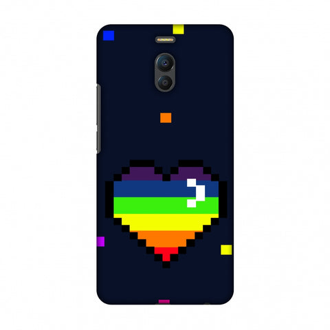Pixelated Heart Slim Hard Shell Case For Meizu Note 6