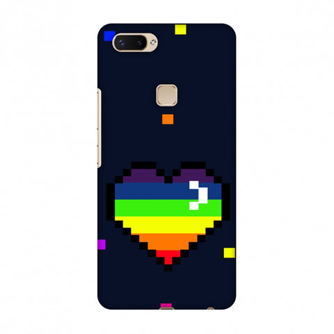 Pixelated Heart Slim Hard Shell Case For Vivo X20 Plus
