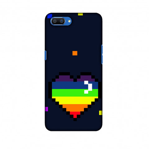 Pixelated Heart Slim Hard Shell Case For Oppo Realme C1