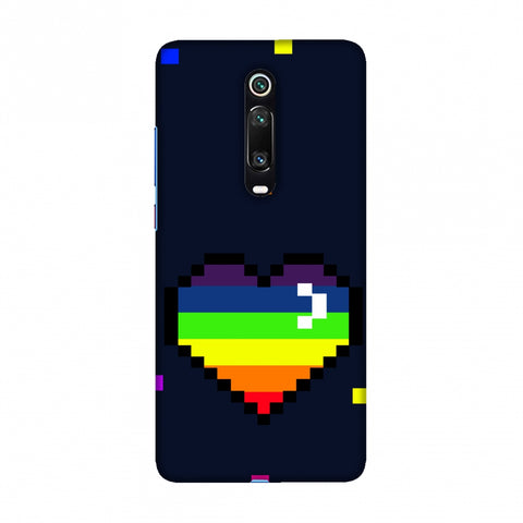 Pixelated Heart Slim Hard Shell Case For Redmi K20/K20 Pro