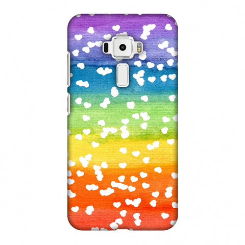 Rainbow Hearts Slim Hard Shell Case For Asus Zenfone 3 ZE520KL