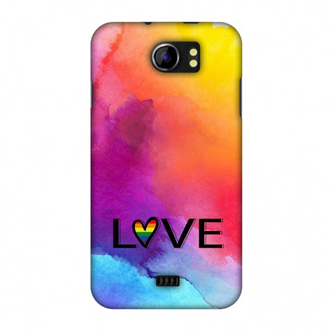 Rainbow Love Slim Hard Shell Case For Micromax Canvas 2 A110