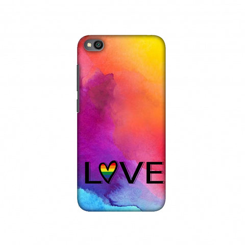 Rainbow Love Slim Hard Shell Case For Redmi Go