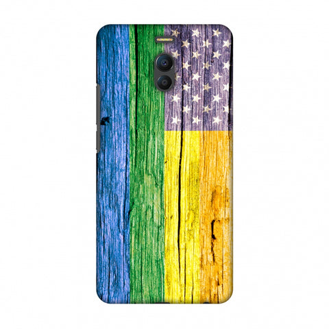 Pride Flag- Wooden Texture Slim Hard Shell Case For Meizu Note 6