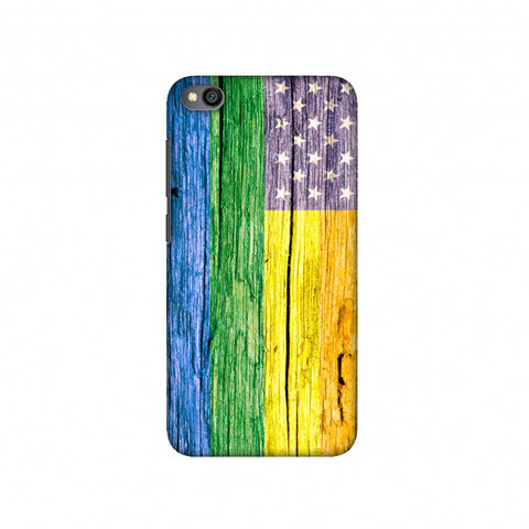 Pride Flag- Wooden Texture Slim Hard Shell Case For Redmi Go