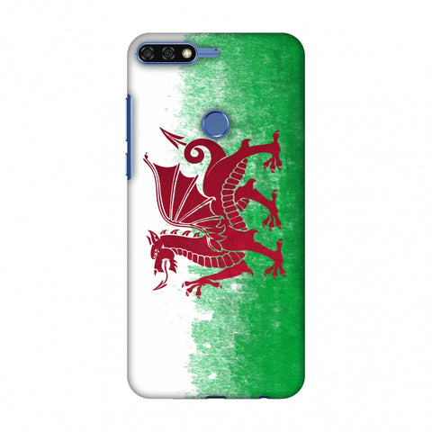 Love For Wales Slim Hard Shell Case For Huawei Honor 7C