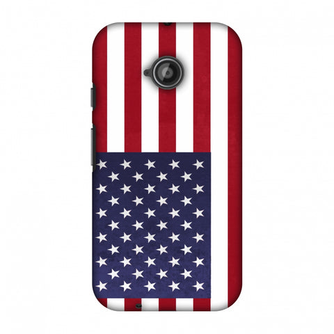 Love For USA Slim Hard Shell Case For Motorola Moto E 2nd Gen