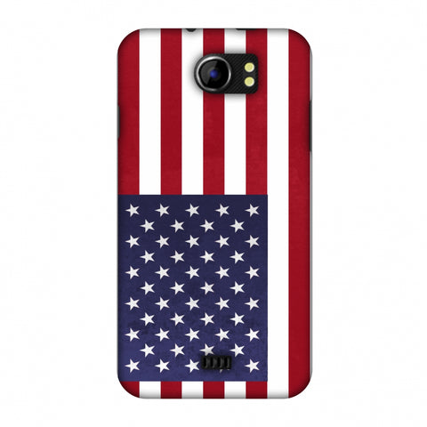 Love For USA Slim Hard Shell Case For Micromax Canvas 2 A110