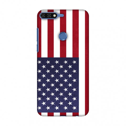 Love For USA Slim Hard Shell Case For Huawei Honor 7C