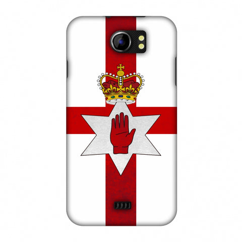 Love For Nothern Ireland Slim Hard Shell Case For Micromax Canvas 2 A110