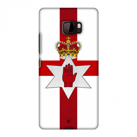 Love For Nothern Ireland Slim Hard Shell Case For HTC U Ultra
