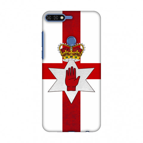 Love For Nothern Ireland Slim Hard Shell Case For Huawei Honor 7C