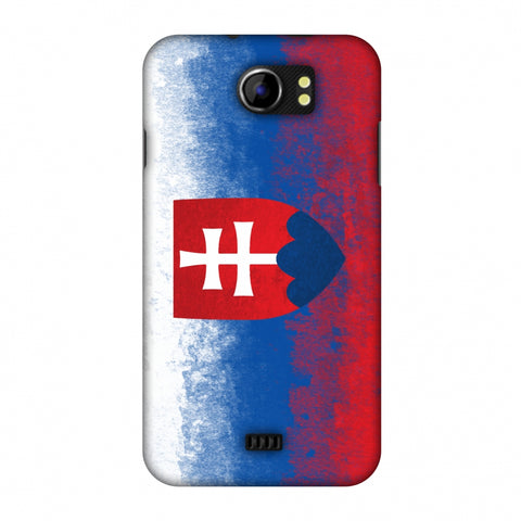 Love For Slovakia Slim Hard Shell Case For Micromax Canvas 2 A110