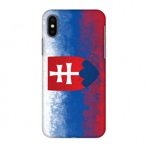 Love For Slovakia Slim Hard Shell Case For Apple iPhone X