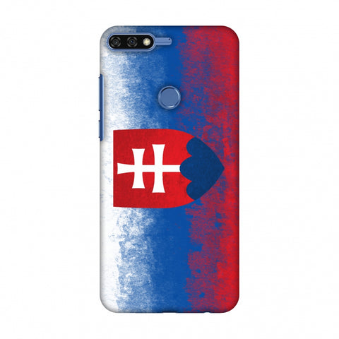 Love For Slovakia Slim Hard Shell Case For Huawei Honor 7C