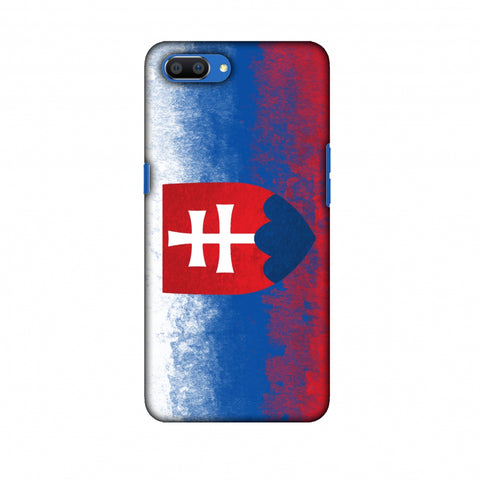 Love For Slovakia Slim Hard Shell Case For Oppo Realme C1