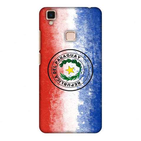 Love For Republic Of Paraguay Slim Hard Shell Case For Vivo V3 Max