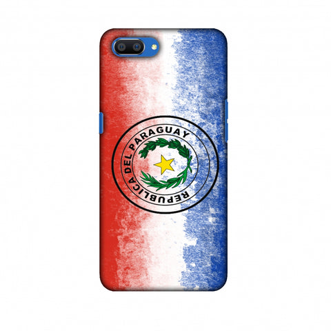 Love For Republic Of Paraguay Slim Hard Shell Case For Oppo Realme C1