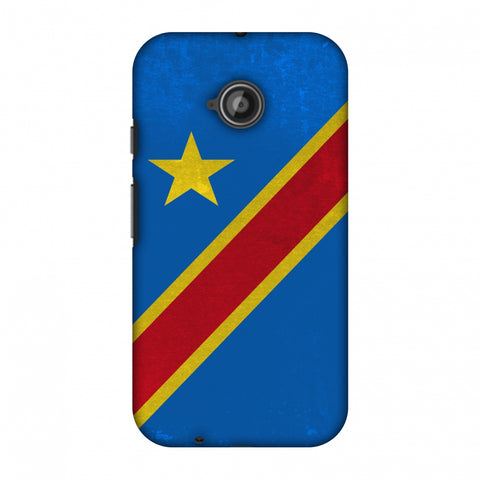 Love For Congo DR Slim Hard Shell Case For Motorola Moto E 2nd Gen