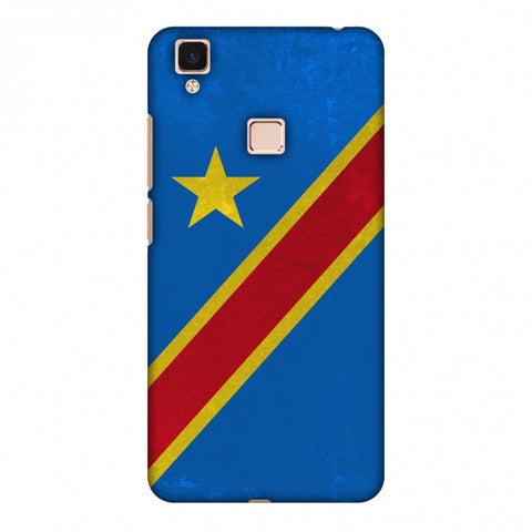 Love For Congo DR Slim Hard Shell Case For Vivo V3 Max