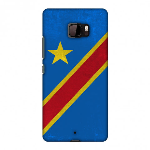 Love For Congo DR Slim Hard Shell Case For HTC U Ultra