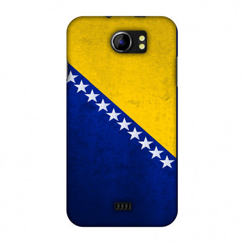 Love For Bosnia and Herzegovina Slim Hard Shell Case For Micromax Canvas 2 A110