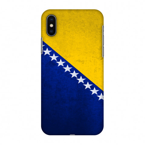 Love For Bosnia and Herzegovina Slim Hard Shell Case For Apple iPhone X