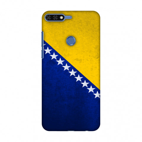 Love For Bosnia and Herzegovina Slim Hard Shell Case For Huawei Honor 7C