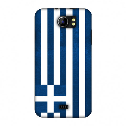Love For Greece Slim Hard Shell Case For Micromax Canvas 2 A110