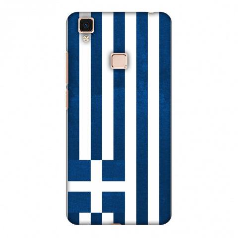 Love For Greece Slim Hard Shell Case For Vivo V3 Max