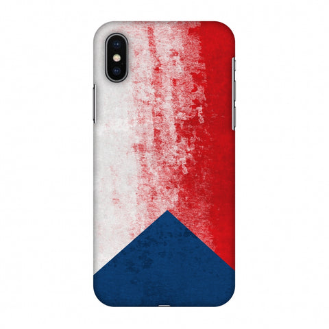 Love For Czech Republic Slim Hard Shell Case For Apple iPhone X