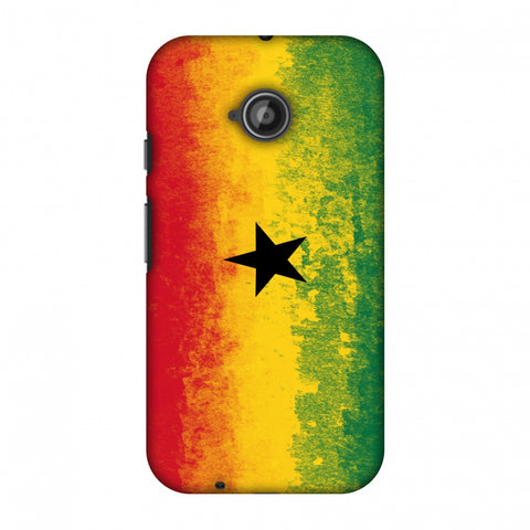 Love For Ghana Slim Hard Shell Case For Motorola Moto E 2nd Gen