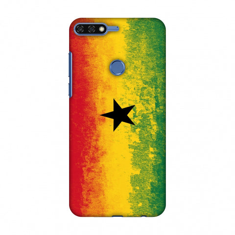 Love For Ghana Slim Hard Shell Case For Huawei Honor 7C