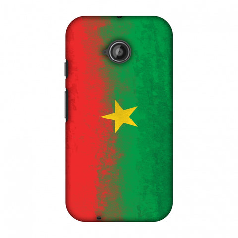 Love For Burkina Faso Slim Hard Shell Case For Motorola Moto E 2nd Gen