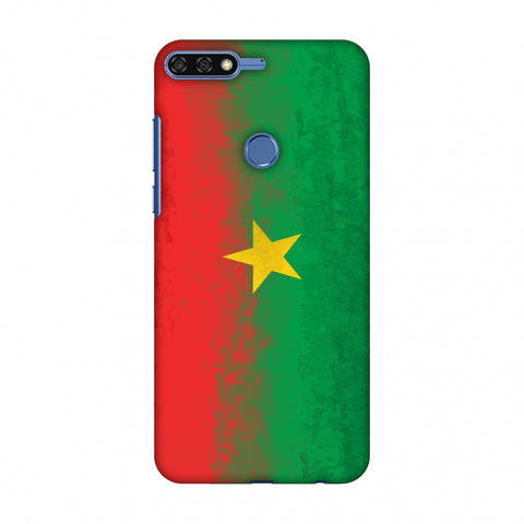 Love For Burkina Faso Slim Hard Shell Case For Huawei Honor 7C
