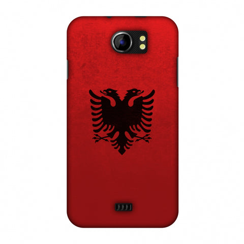 Love For Albania Slim Hard Shell Case For Micromax Canvas 2 A110