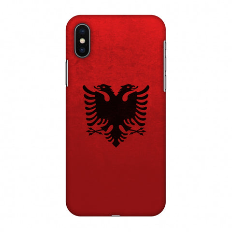 Love For Albania Slim Hard Shell Case For Apple iPhone X