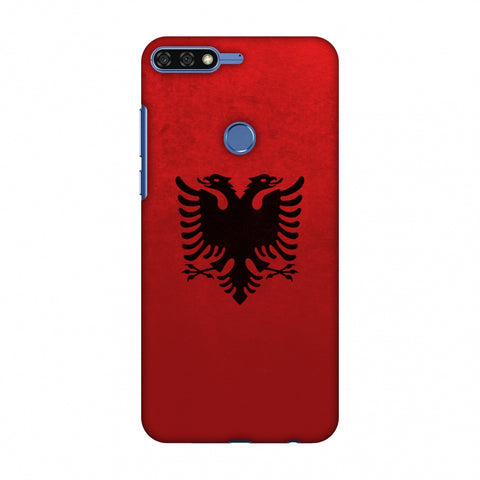 Love For Albania Slim Hard Shell Case For Huawei Honor 7C