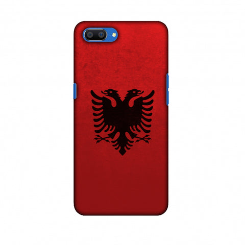 Love For Albania Slim Hard Shell Case For Oppo Realme C1