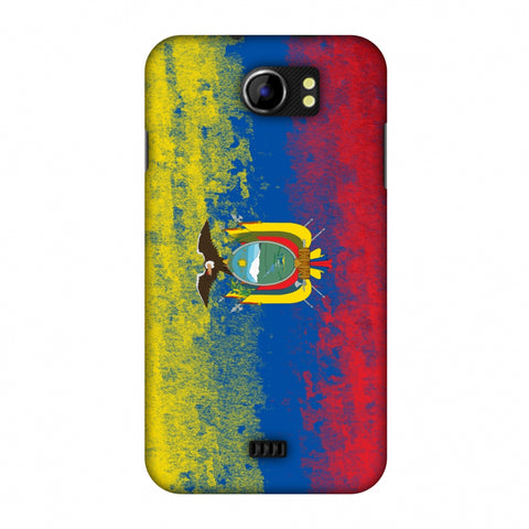 Love For Ecuador Slim Hard Shell Case For Micromax Canvas 2 A110